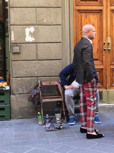 Fashionable charming man in Florence.